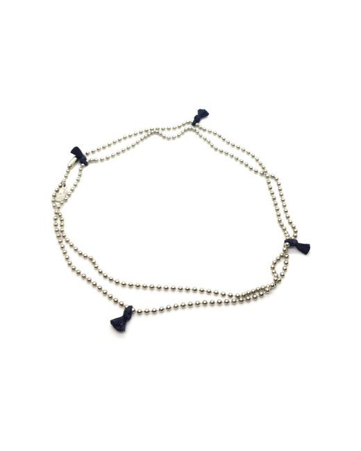 Nikolai Rose | Multicolor Stainless Steel Mantra Iv Necklace - Navy | Lyst