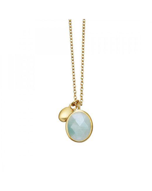 Astley Clarke | Blue Aqua Quartz Oval Stilla Pendant | Lyst