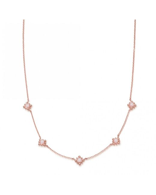 Astley Clarke - Pink Opal Mini Floris Necklace - Lyst