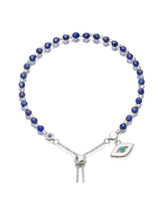 astley clarke lapis evil eye kula bracelet in blue lyst