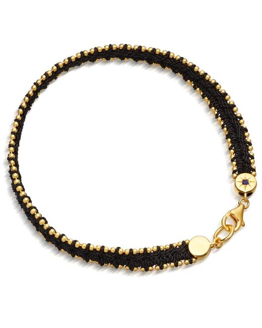 Astley Clarke | Black London Nights Woven Biography Bracelet | Lyst