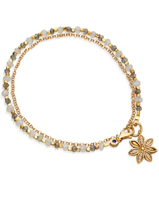 Astley Clarke | Metallic Gold-plated Labradorite Star Anise Biography Bracelet | Lyst
