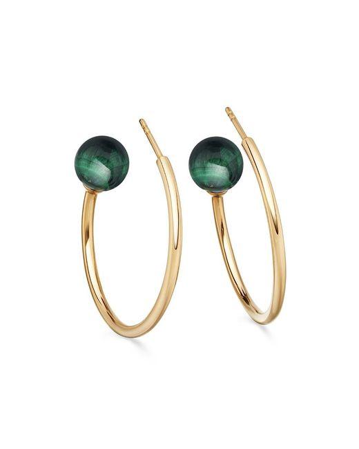 Astley Clarke   Multicolor Malachite Ezra Hoop Earrings   Lyst