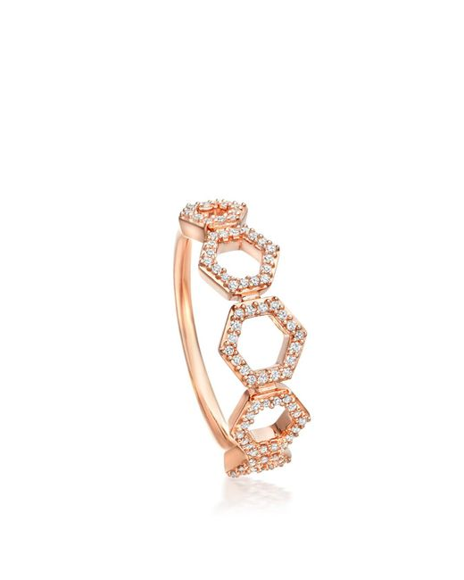 Astley Clarke - Multicolor Honeycomb Ring - Lyst