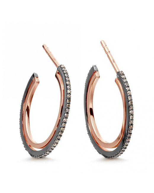 Astley Clarke - Metallic Small Icon Diamond Hoop Earrings - Lyst