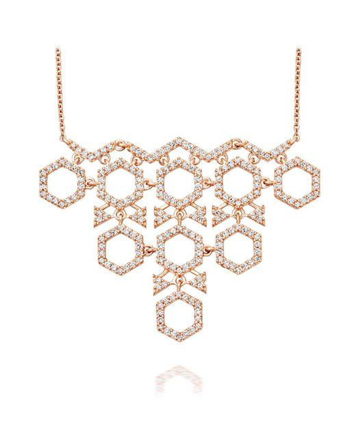 Astley Clarke - Metallic Honeycomb Necklace - Lyst