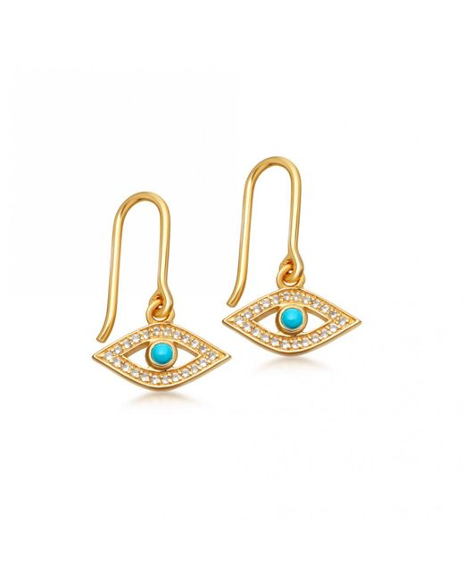 Astley Clarke | Metallic Evil Eye Biography Drop Earrings | Lyst