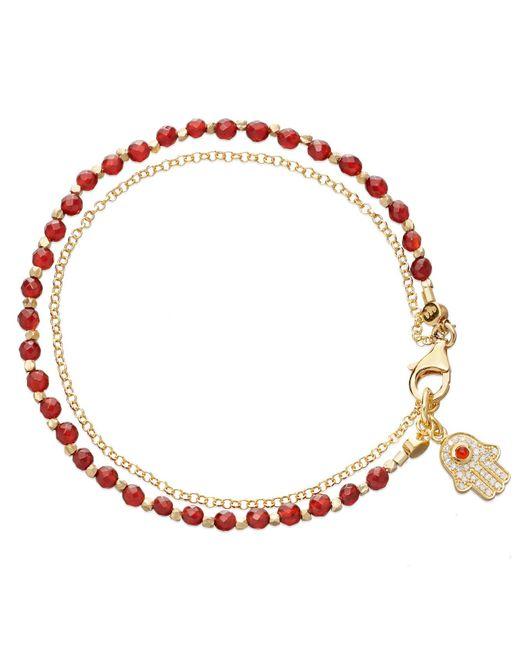 Astley Clarke - Red Hamsa Biography Bracelet - Lyst
