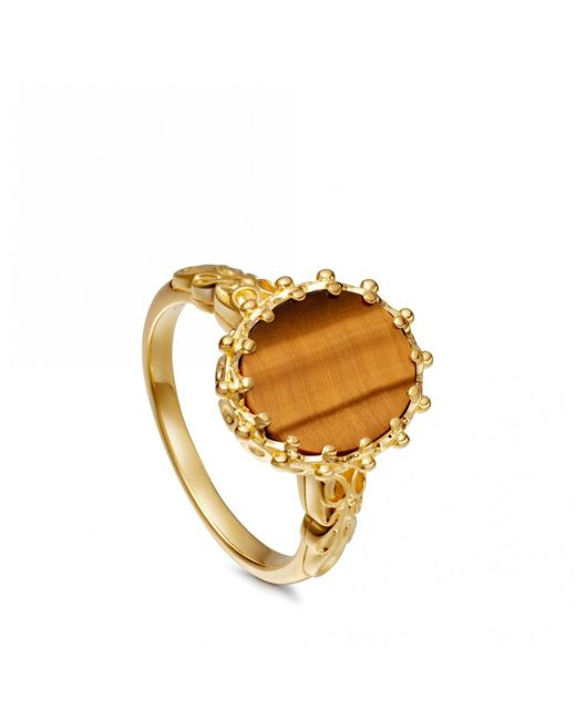 Astley Clarke - Metallic Tigers Eye Large Floris Ring - Lyst