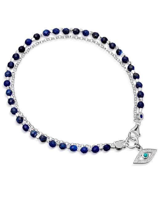 Astley Clarke - Metallic Evil Eye Lapis Friendship Bracelet - Lyst