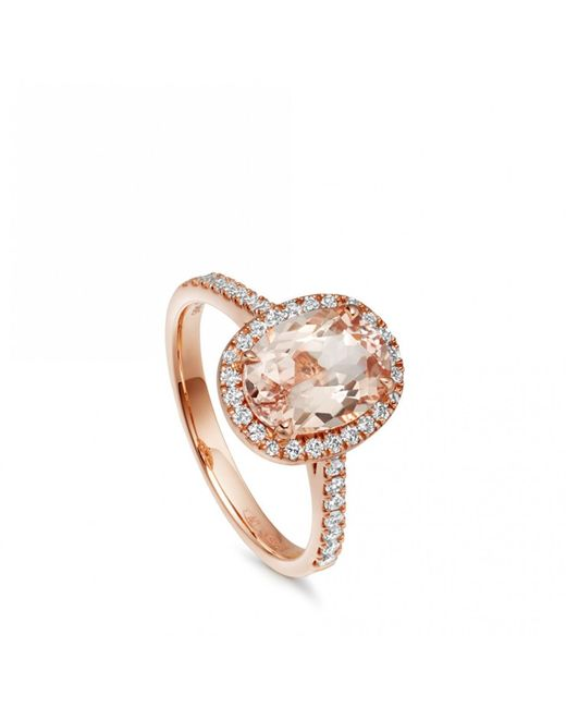 Astley Clarke - Multicolor Morganite Oval Tearoom Ring - Lyst