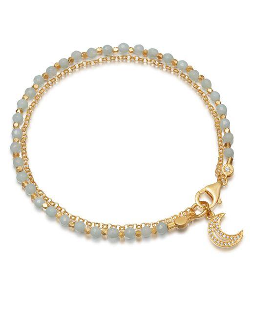 Astley Clarke - Metallic Amazonite Moon Biography Bracelet - Lyst