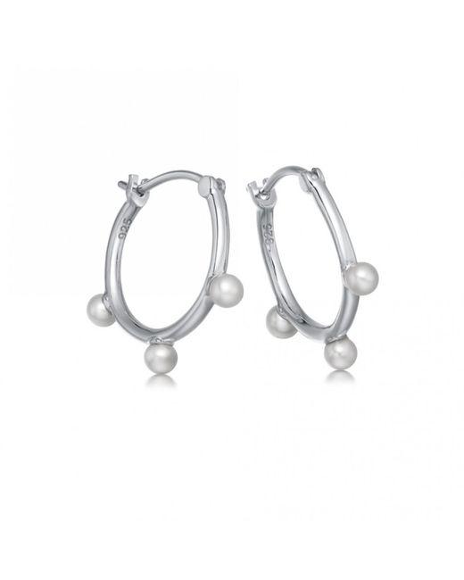 Astley Clarke - Metallic Hazel Pearl Hoop Earrings - Lyst