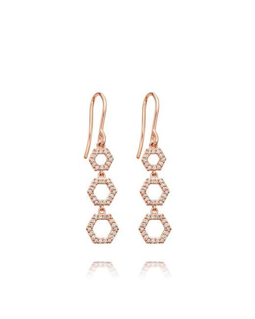 Astley Clarke - Multicolor Triple Honeycomb Drop Earrings - Lyst