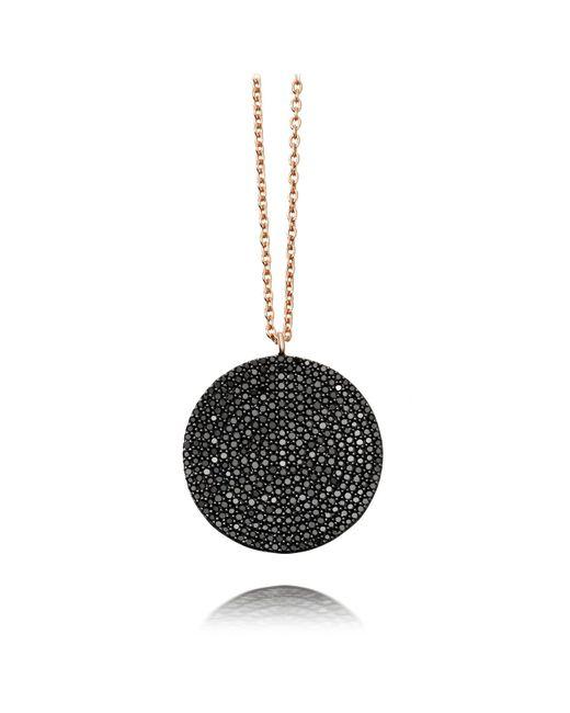 Astley Clarke - Large Icon Black Diamond Pendant Necklace - Lyst