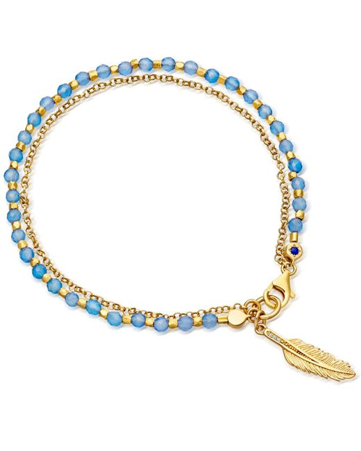Astley Clarke | Blue Agate Feather Biography Bracelet | Lyst