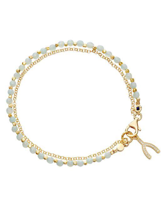 Astley Clarke - Metallic Amazonite Wishbone Biography Bracelet - Lyst