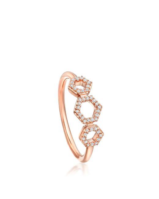 Astley Clarke | Multicolor Triple Honeycomb Ring | Lyst