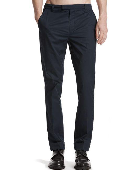 ATM | Blue Cuffed Cotton Poplin Classic Pants for Men | Lyst