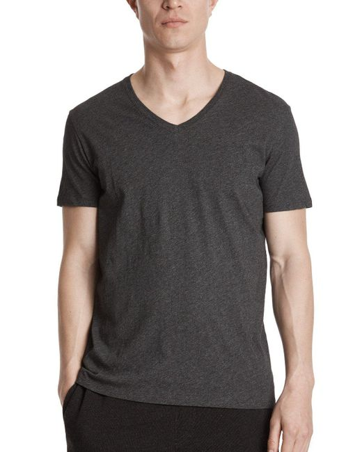 ATM | Gray Classic Jersey V-neck Tee for Men | Lyst