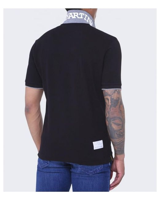 La Martina - Black Plain Polo Shirt for Men - Lyst