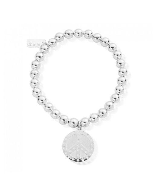 ChloBo - Metallic Small Ball Dotty Peace Bracelet - Lyst