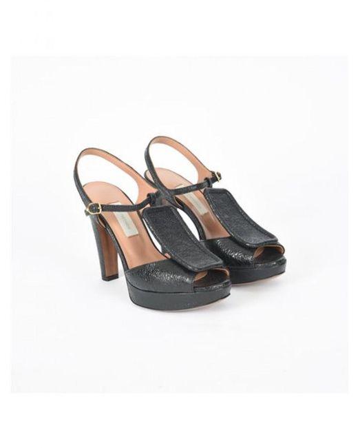 L'Autre Chose - Crackle Women's Platform Sandals Size 36, Color Black - Lyst