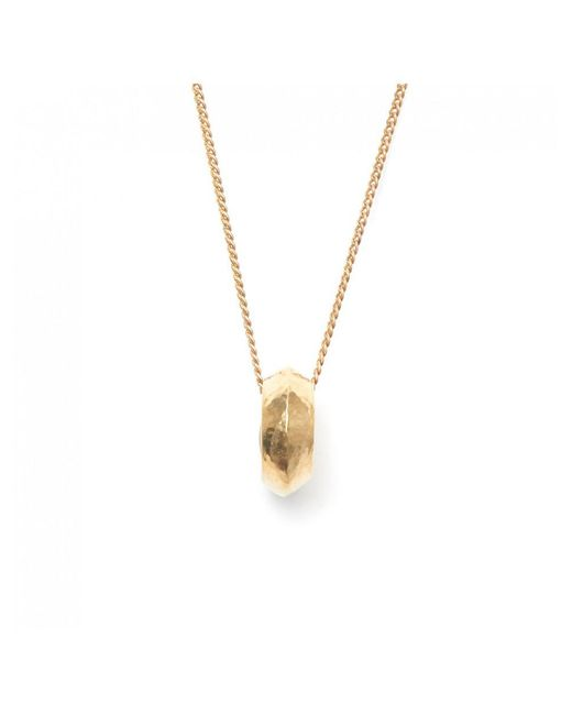 TRIBE + FABLE - Metallic Tribe + Fable Classic Promise Ring Necklace - Lyst