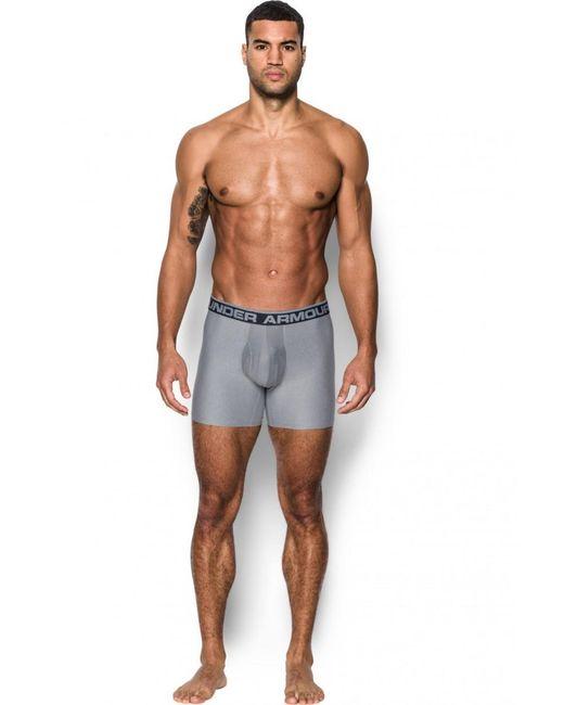 "Under Armour - Gray Original Series 6"" Boxerjock 2 Pack for Men - Lyst"