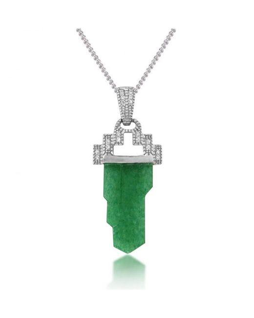 V Jewellery - Green Tower Pendant - Lyst