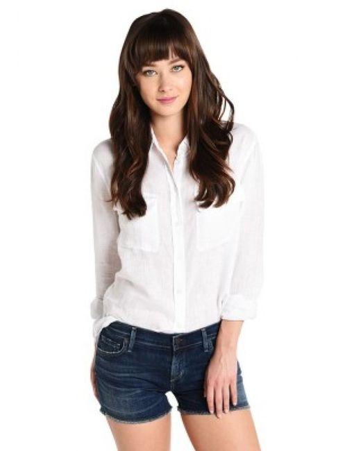 Equipment - White Signature Shirt - Lyst