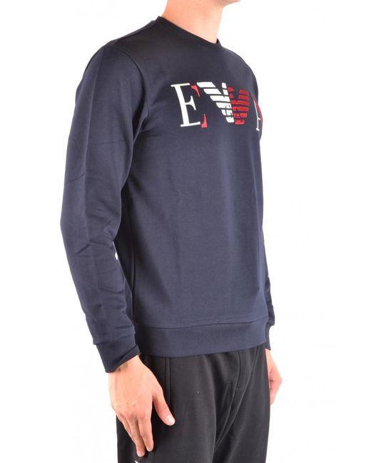 0d3f63d96b7e7 Lyst - Emporio Armani Sweatshirt For Men On Sale in Blue for Men ...