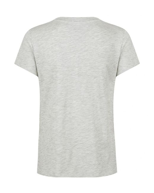 Tommy Hilfiger - Gray Tommy Jeans Women's Clean Tommy Flag T-shirt - Lyst