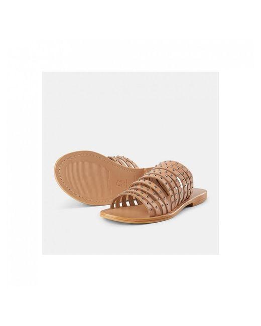 a549d342837d ... Shoe The Bear - Brown Jenna Stud Sandals - Lyst ...