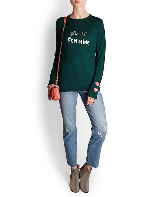 Bella Freud - Green Feminine Merino Knit - Lyst