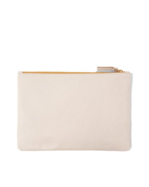 Clare V. - Multicolor Cream Mexican Floral Flat Clutch - Lyst