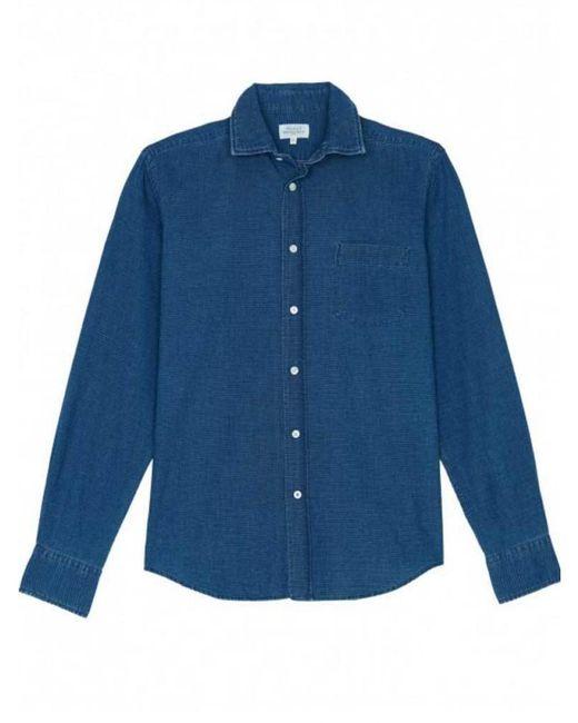 Hartford - Blue Paul Shirt With Dots Fil-coupé for Men - Lyst