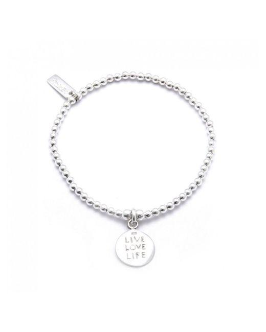 ChloBo - Metallic Cute Charm Bracelet With Live Love Life Charm - Lyst