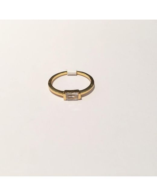Tai | Metallic Simple Baguette Ring | Lyst
