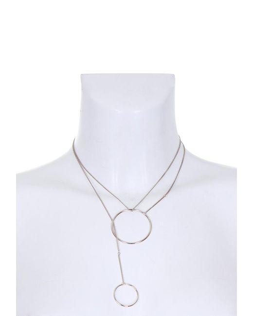AX Paris   Metallic Silver Multiway Hoop Necklace   Lyst