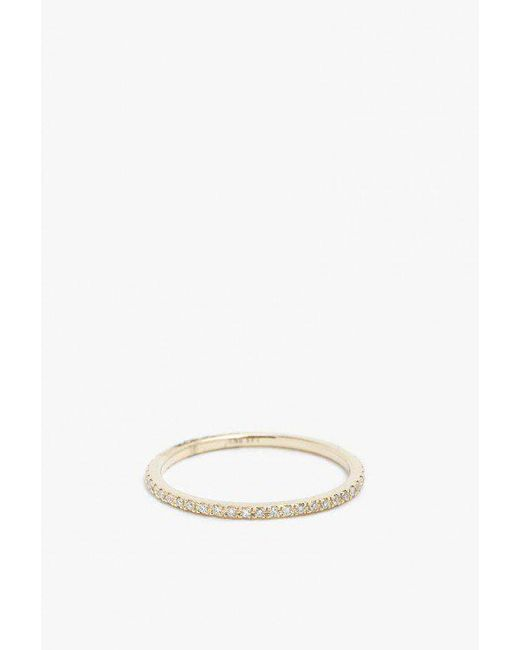 Gabriela Artigas | Metallic 14k Yellow Gold White Diamond Ring | Lyst