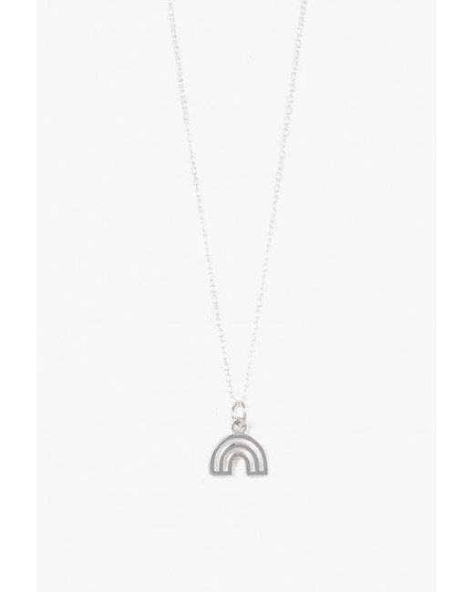 Honey and Bloom - Metallic Lucky Rainbow Pendant Necklace - Lyst