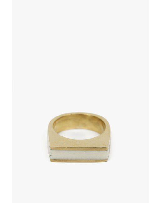 Soko - White Horn Line Ring - Lyst