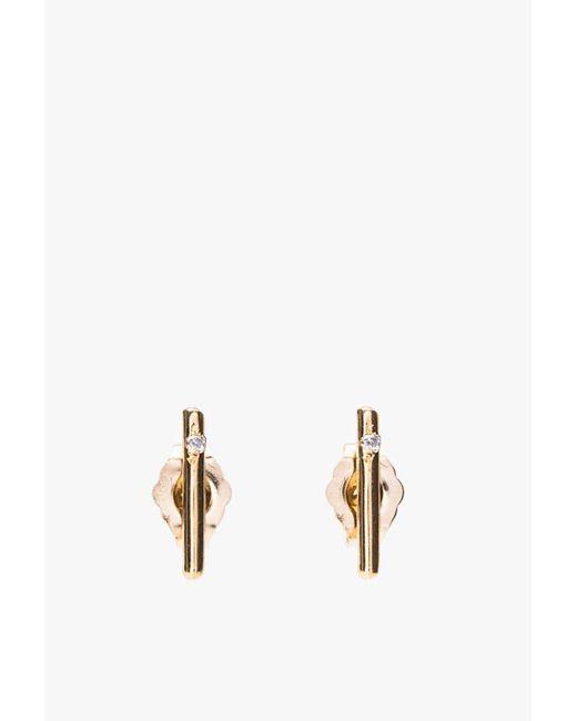 Loren Stewart   Metallic Small Rods Gold W/ Diamonds   Lyst