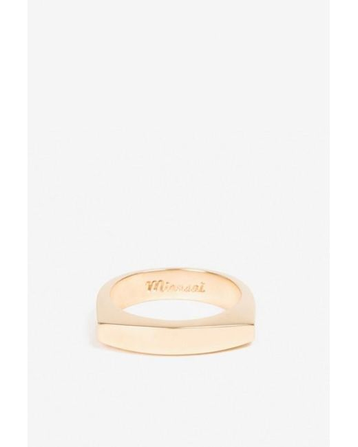 Miansai | Metallic Round Top Ring | Lyst