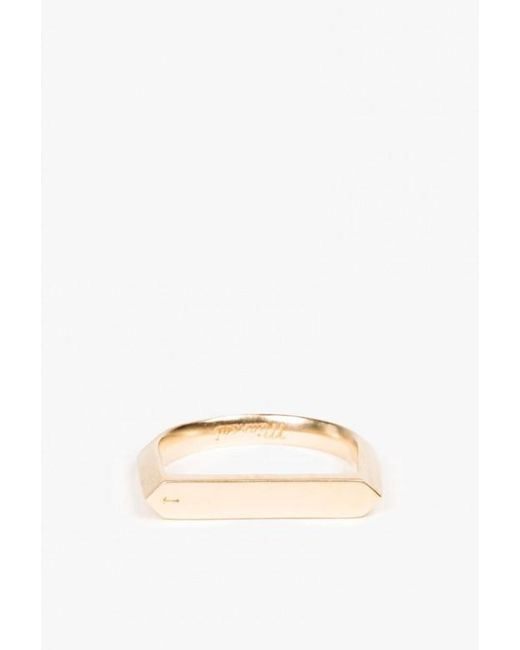 Miansai | Metallic Flat Top Ring | Lyst