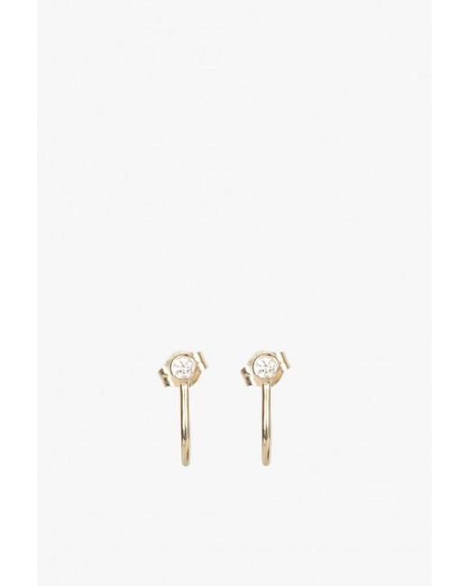 Ariel Gordon | Metallic Diamond Hook Studs | Lyst