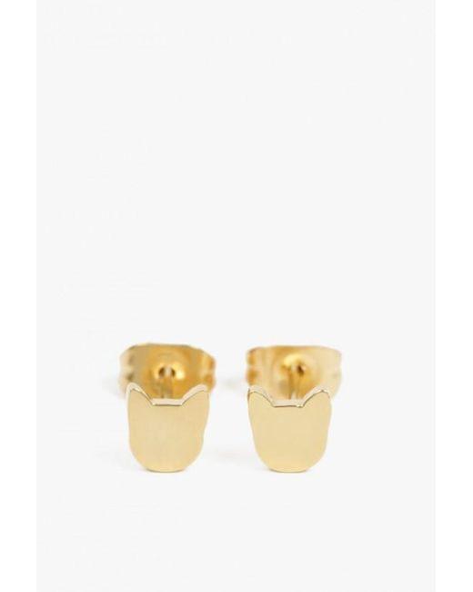 Seoul Little | Metallic Cat Earrings | Lyst