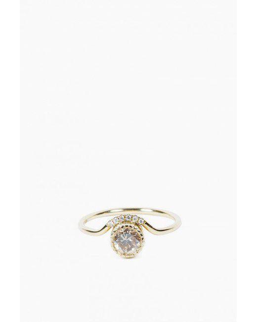 Jennie Kwon   Multicolor Diamond Wave Ring   Lyst