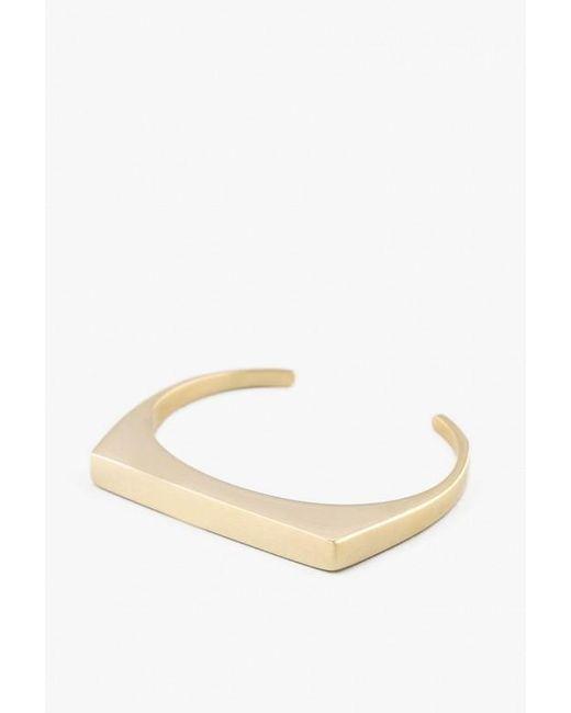 Soko   Metallic Brass Line Cuff   Lyst
